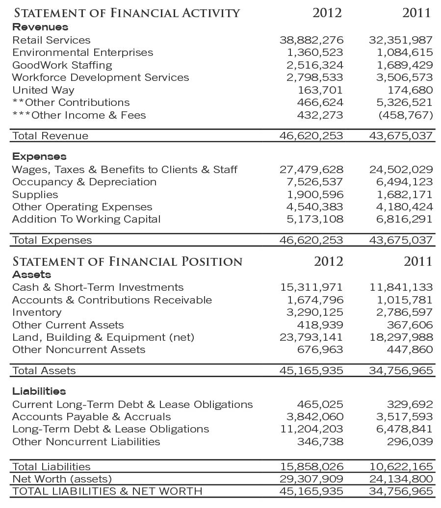 2013 Goodwill financial statement