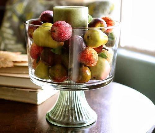 glass fruit bowl