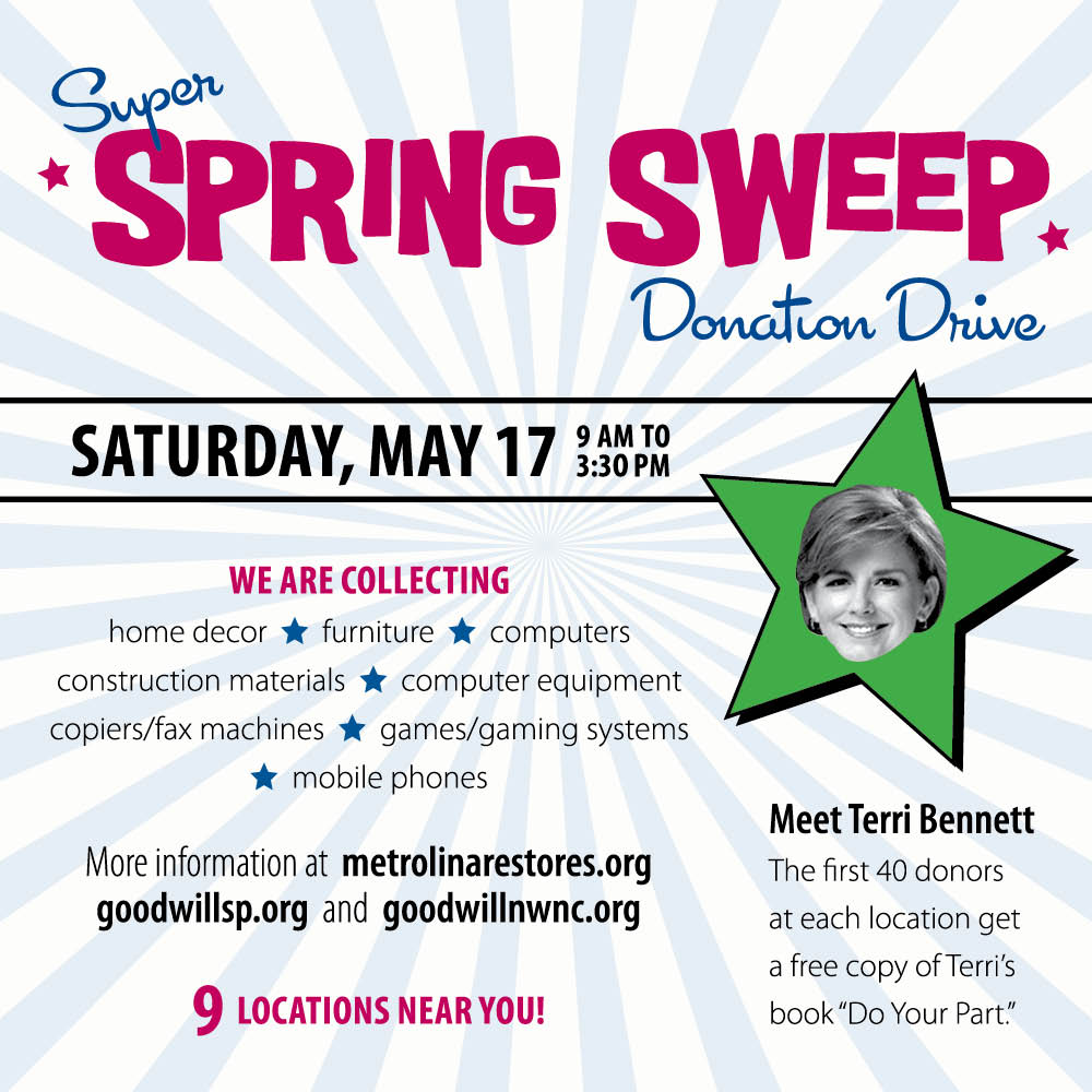 Spring Sweep donation drive