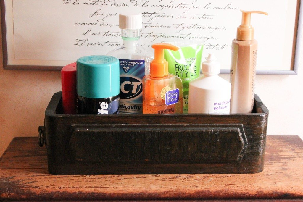 toiletries drawer