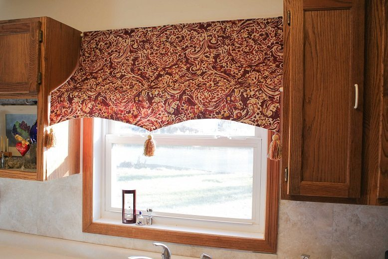 a new twist on a kitchen valance goodwill industries of the