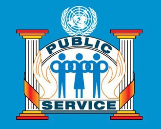 United Nations public service logo