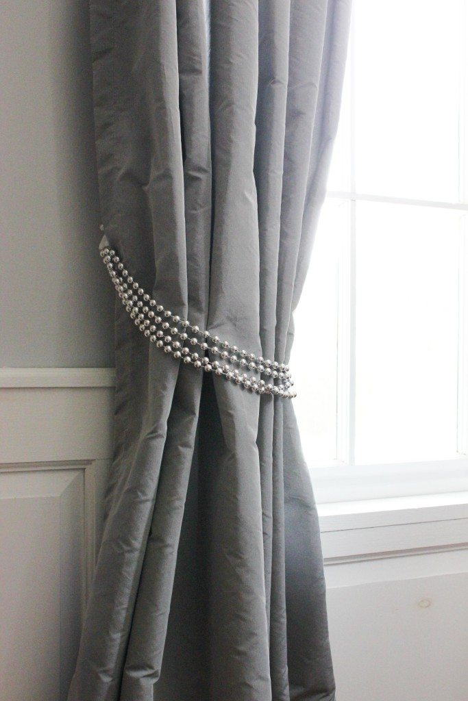 DIY curtain tiebacks