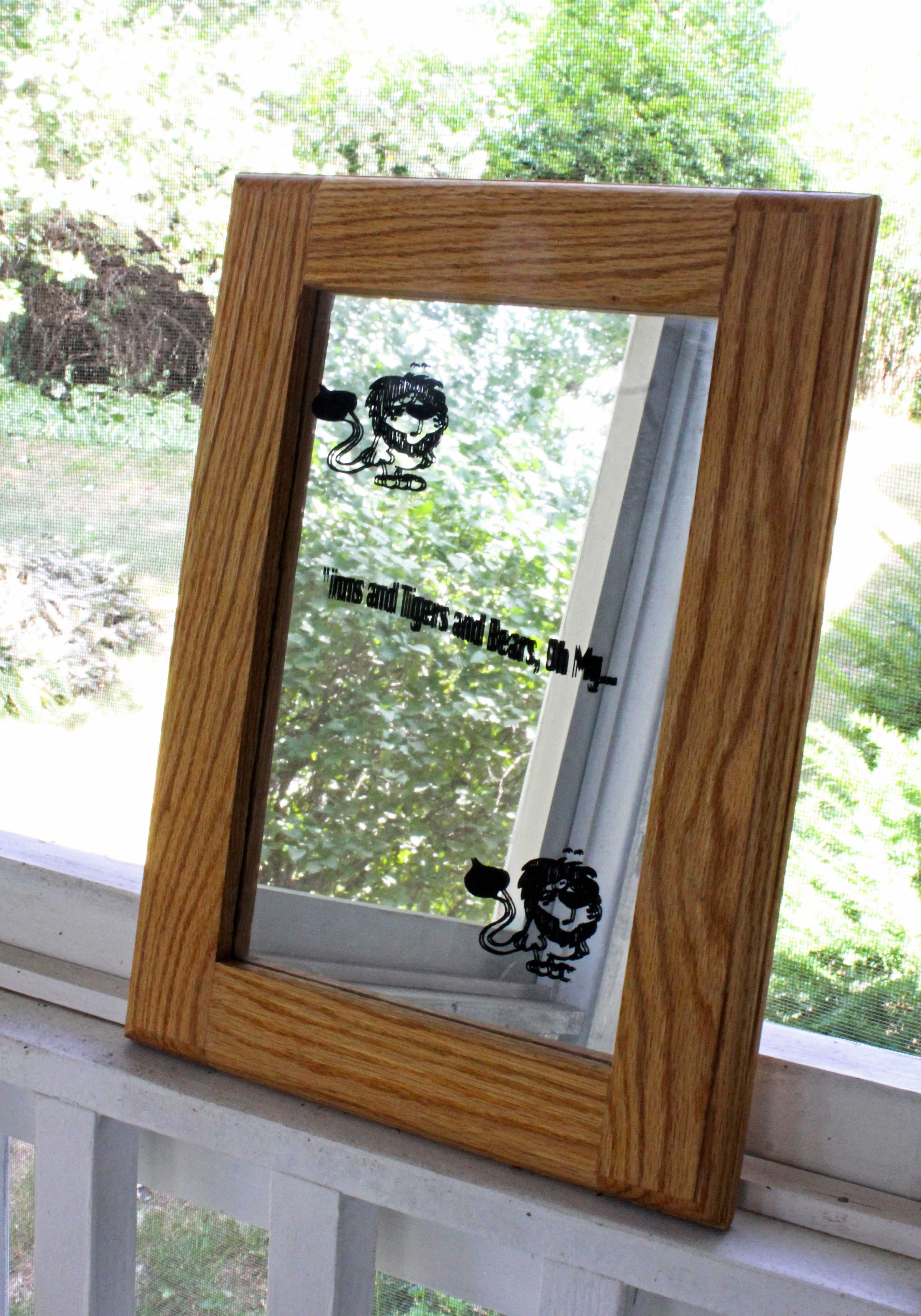 Transform a plain mirror with flowers and spray paint goodwill 2 old frame jeuxipadfo Choice Image