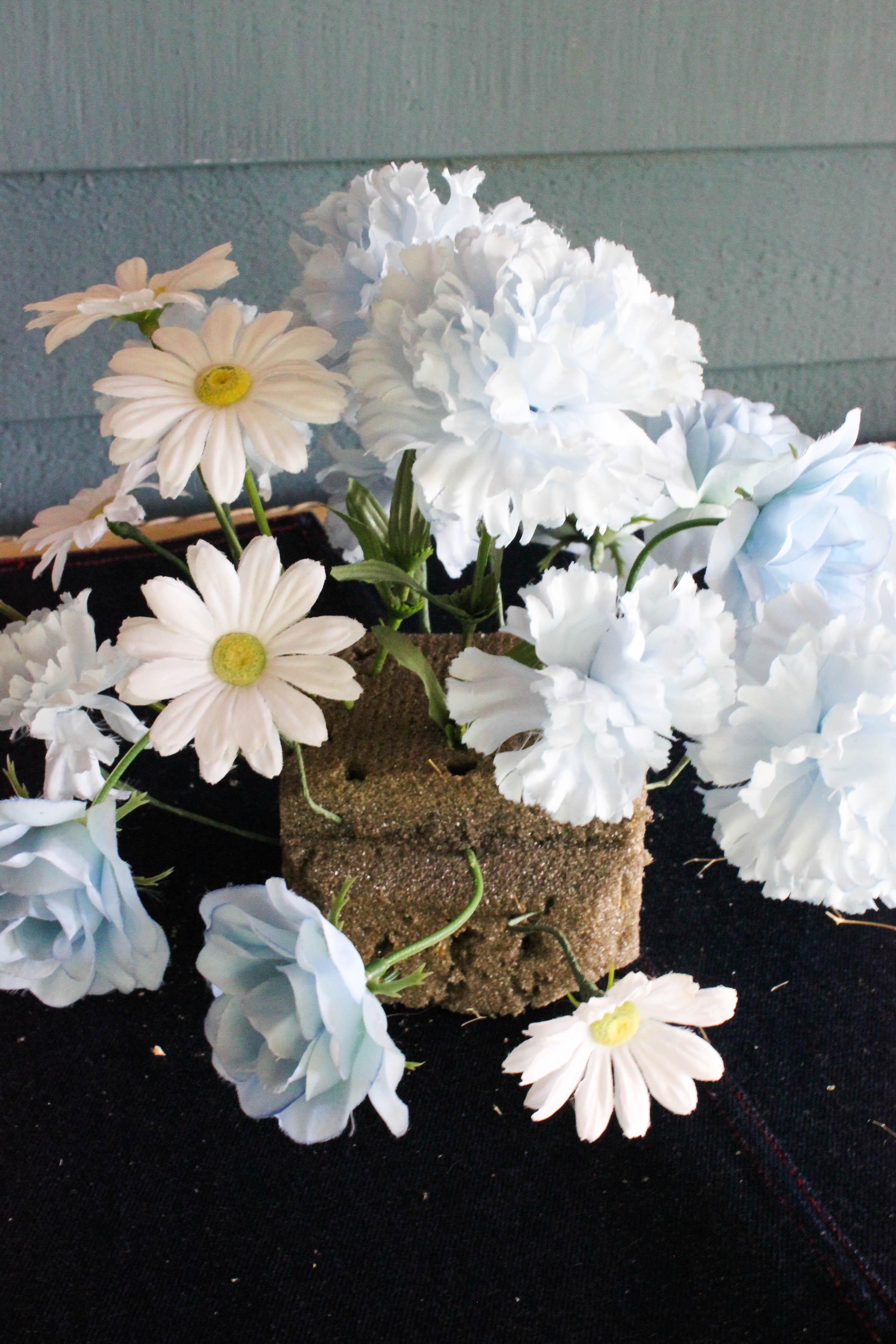 4 Flowers in Styrofoam