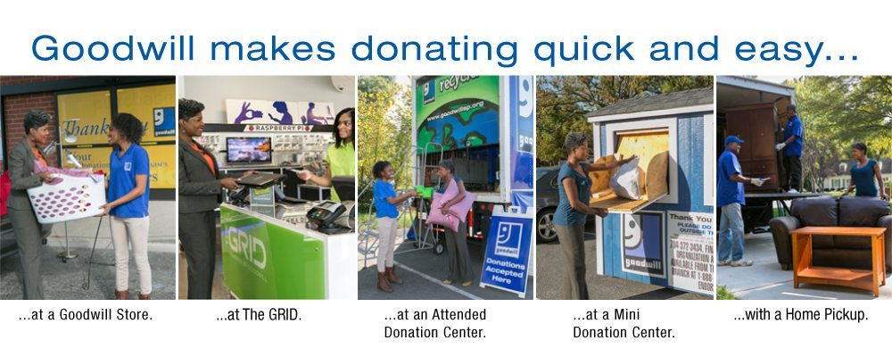 Quick and easy Goodwill donating