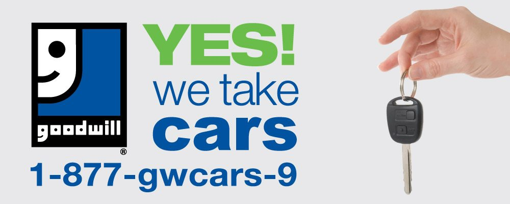 donate cars Goodwill banner
