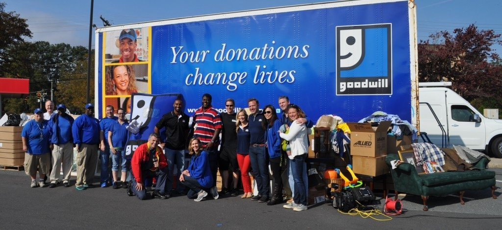 Goodwill team at donation drive