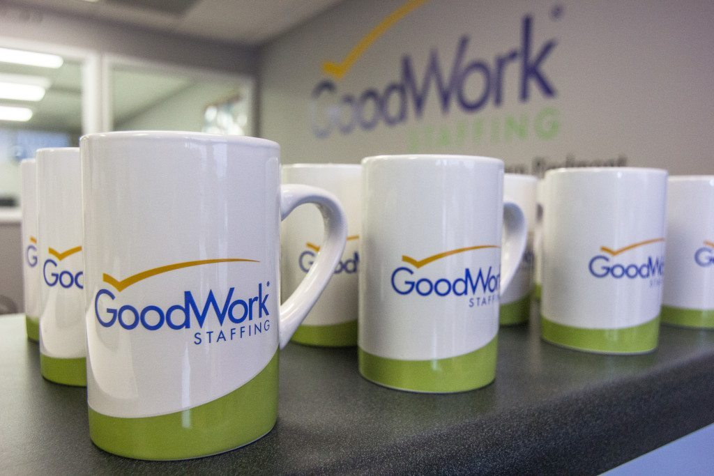 Goodwork staffing mugs