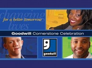 Goodwill cornerstone celebration logo
