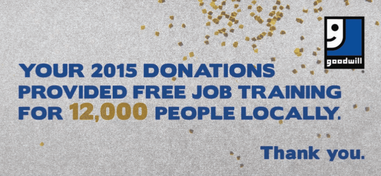 Goodwill 2015 donations job training