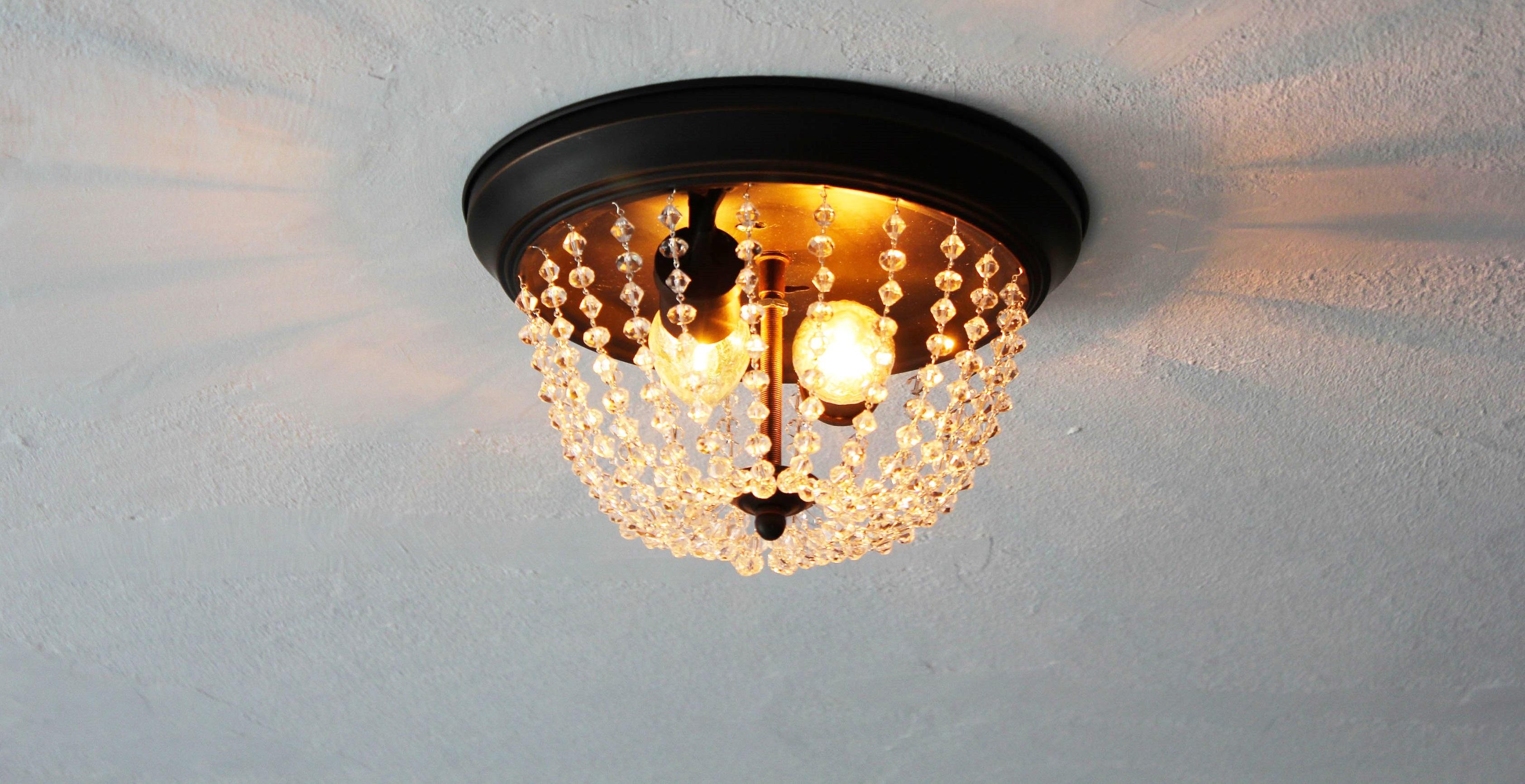 from standard light fixture to stunning chandelier  goodwill, Lighting ideas