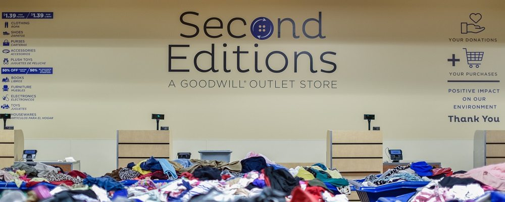Second Editions  Goodwill Discount Outlet Store - Goodwill