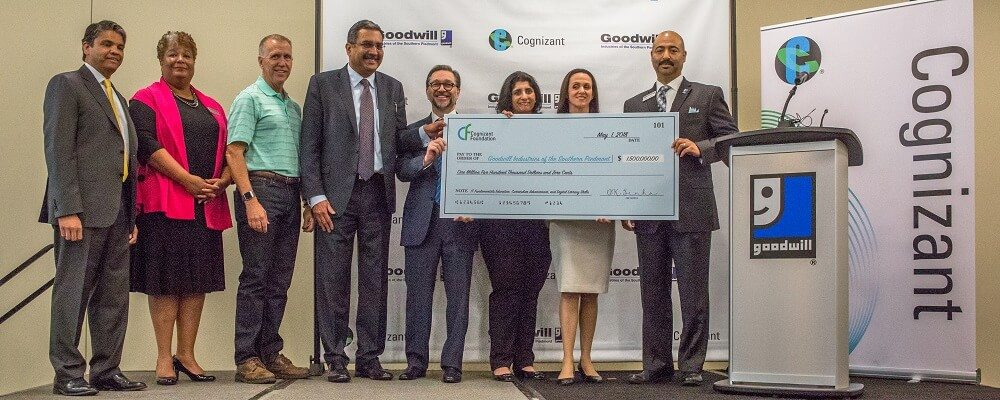 Cognizant Grant $1.5 Million Check Presentation