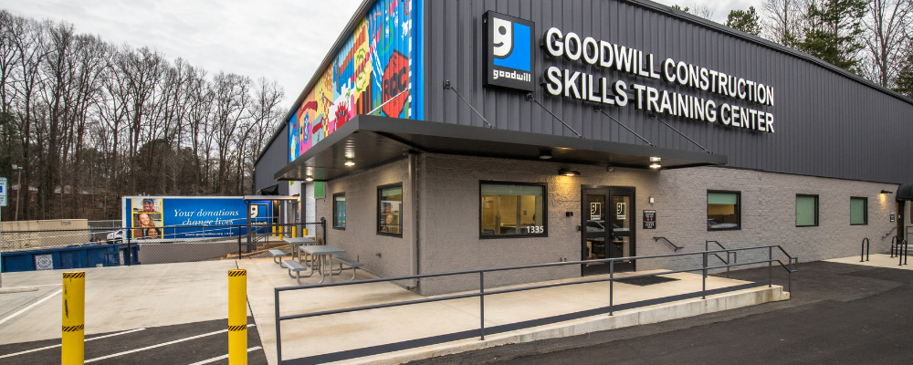 Exterior of Goodwill Construction Skills Training Center