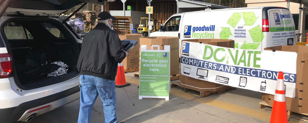 Man donates old technology items to Goodwill